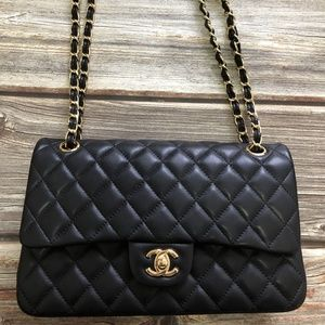 Chanel Classic Lambskin & Gold-Tone Metal Flap Bag